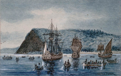 Arrival of Jacques Cartier at Stadacona, 1535
